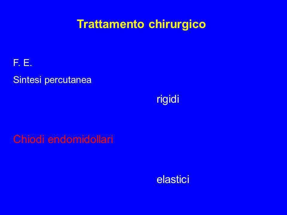 Trattamento chirurgico F. E. Sintesi percutanea rigidi Chiodi endomidollari elastici