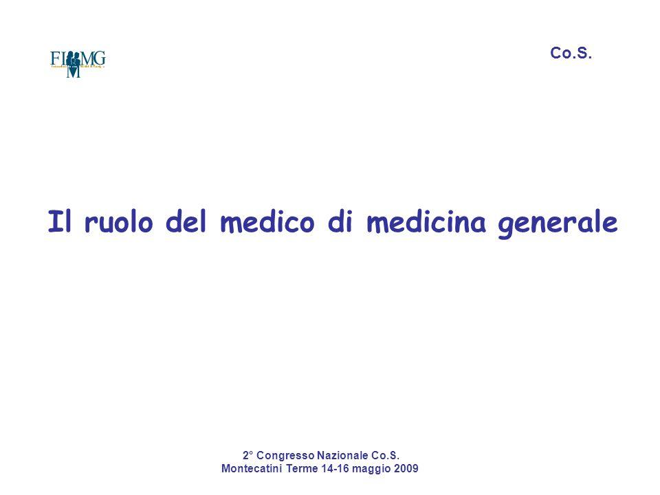 Il ruolo del medico di medicina generale Co.S. 2° Congresso Nazionale Co.S. Montecatini Terme 14-16 maggio 2009