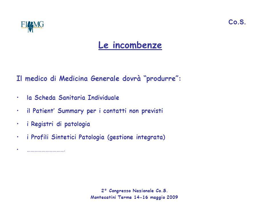 """Le incombenze Il medico di Medicina Generale dovrà """"produrre"""": la Scheda Sanitaria Individuale il Patient' Summary per i contatti non previsti i Regis"""