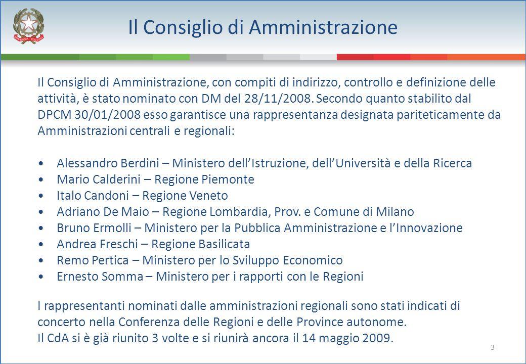 3 Il Consiglio di Amministrazione Il Consiglio di Amministrazione, con compiti di indirizzo, controllo e definizione delle attività, è stato nominato