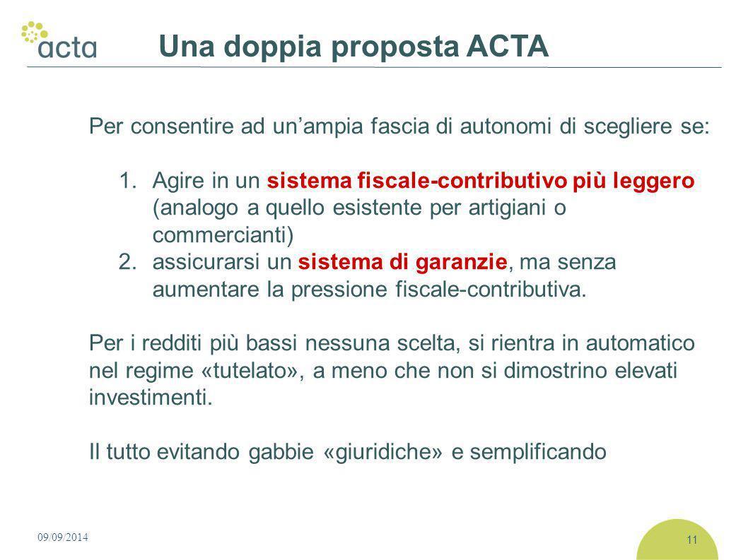 Per consentire ad un'ampia fascia di autonomi di scegliere se: 1. Agire in un sistema fiscale-contributivo più leggero (analogo a quello esistente per