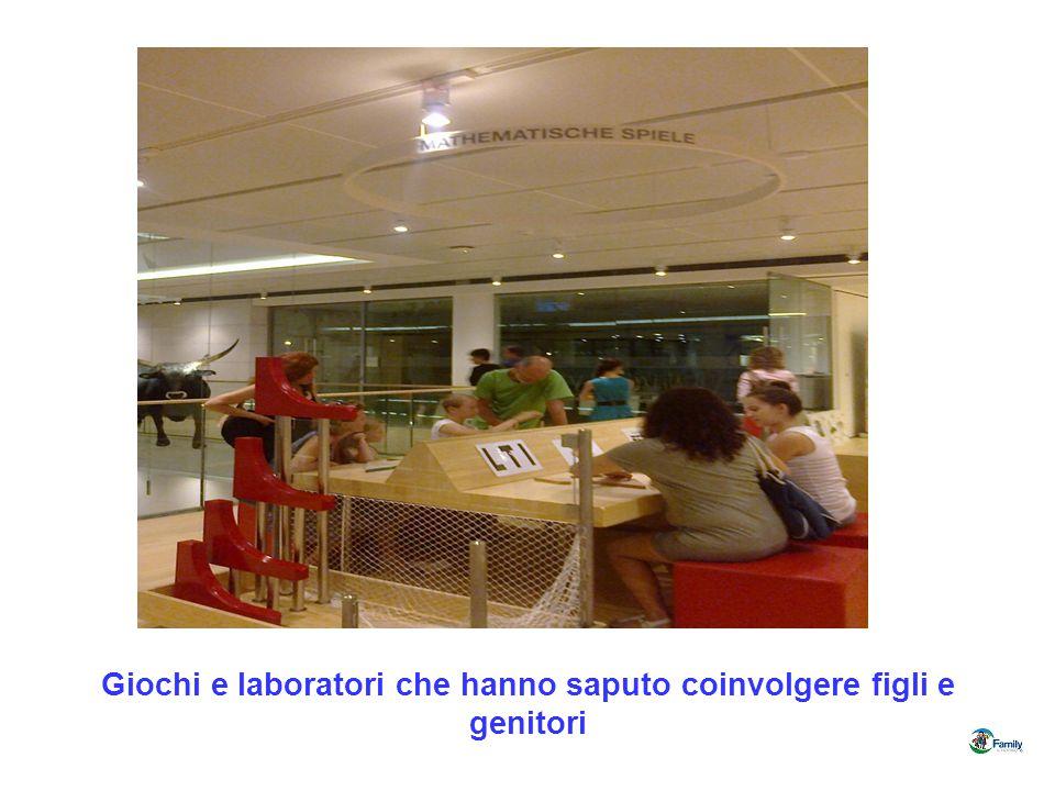 Giochi e laboratori che hanno saputo coinvolgere figli e genitori