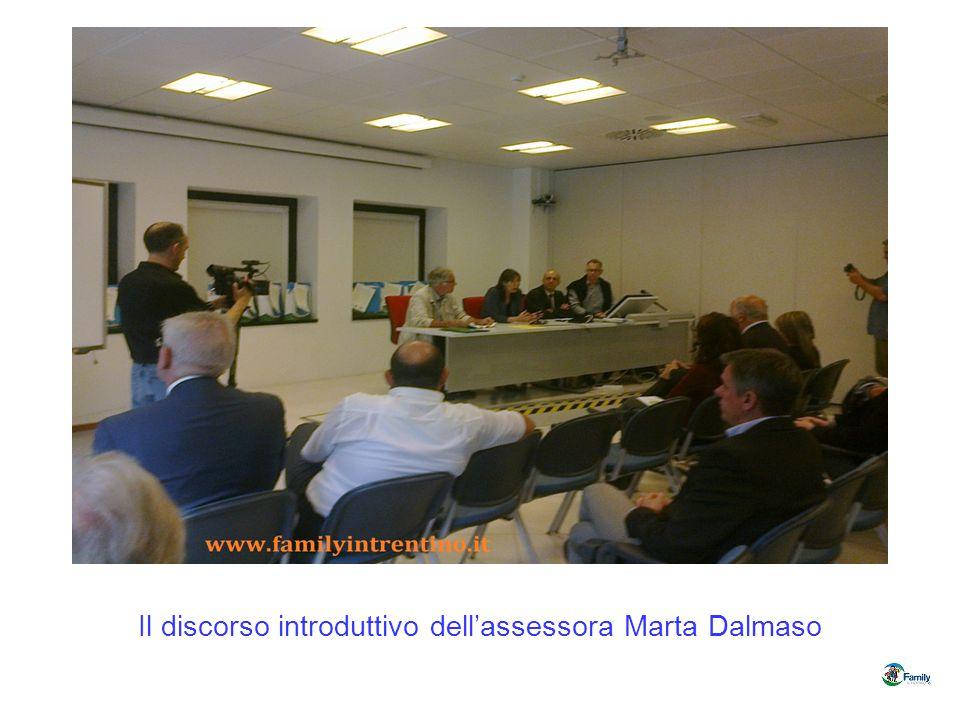 Il discorso introduttivo dell'assessora Marta Dalmaso