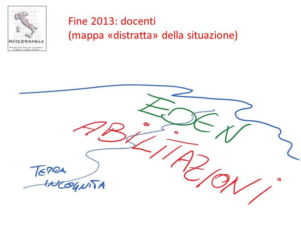 Fine 2013: docenti (mappa «distratta» della situazione)