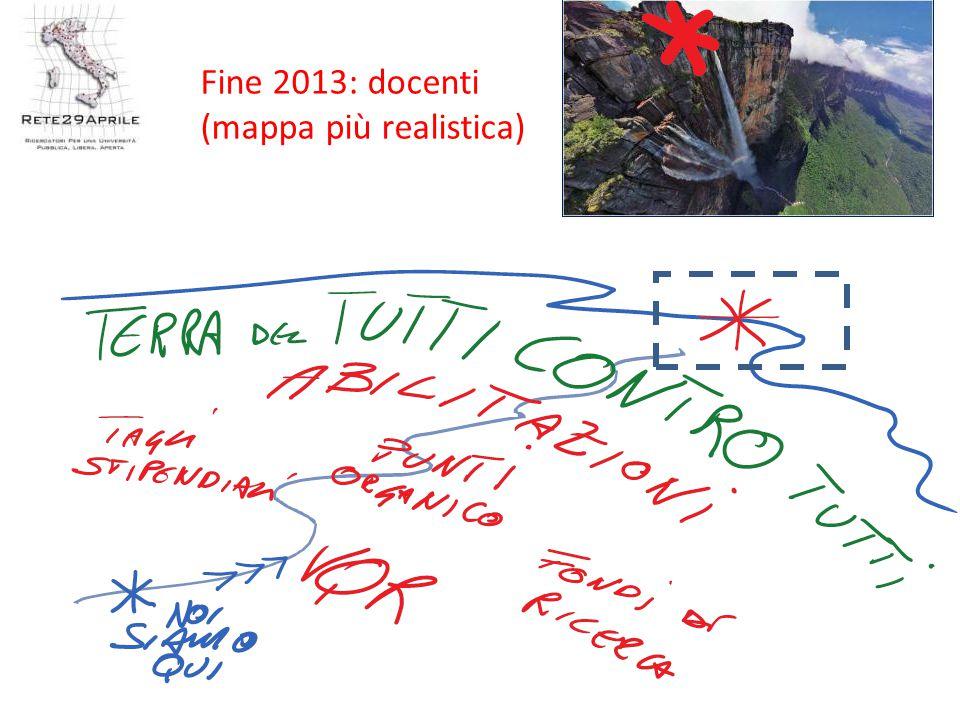 Fine 2013: docenti (mappa più realistica)