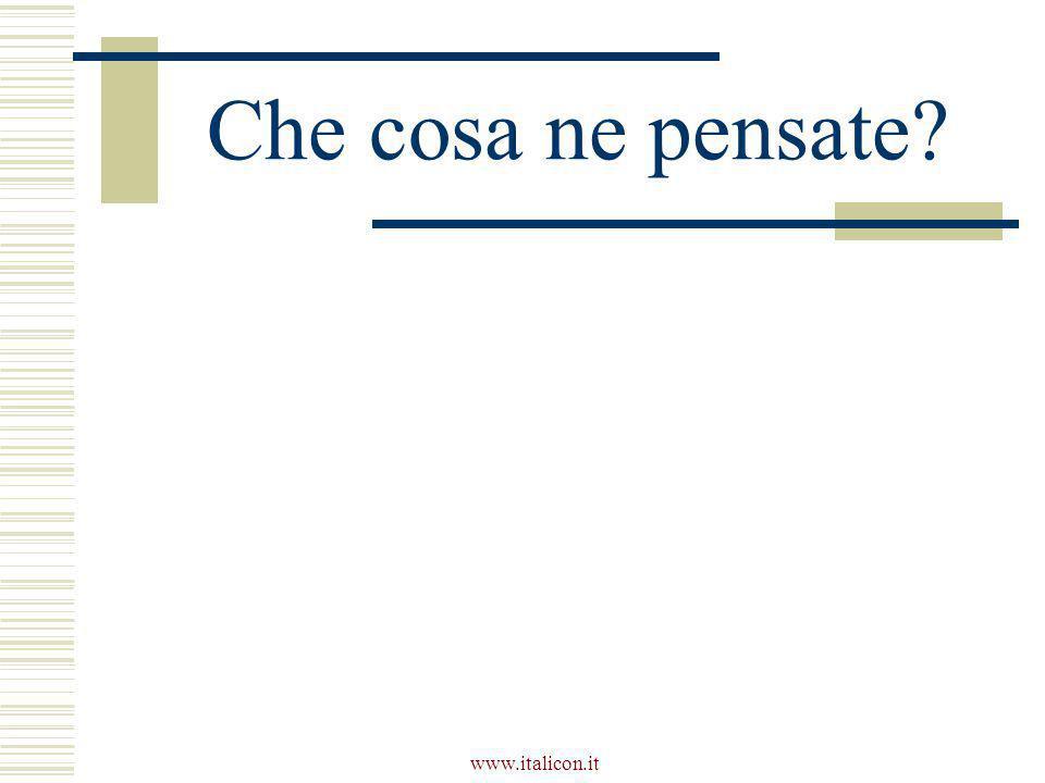 www.italicon.it Che cosa ne pensate?