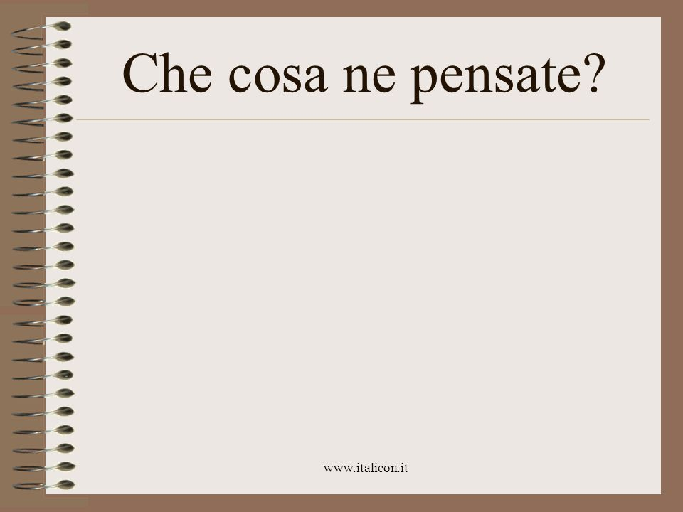 www.italicon.it Che cosa ne pensate