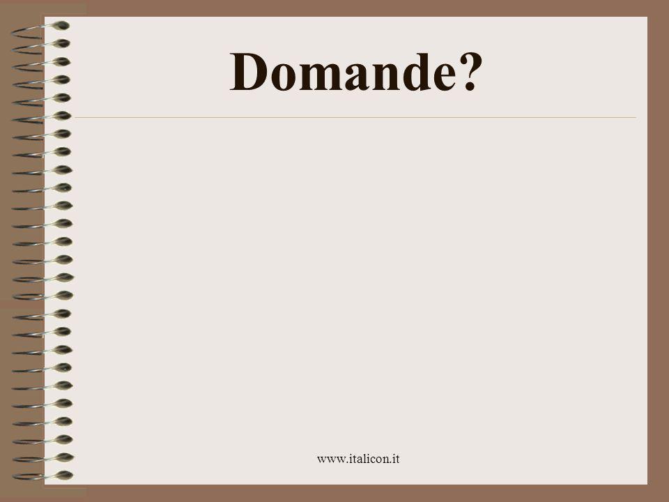 www.italicon.it Programma Oggi: chiudiamo con la posta elettronica La prossima settimana: passiamo alle pagine web