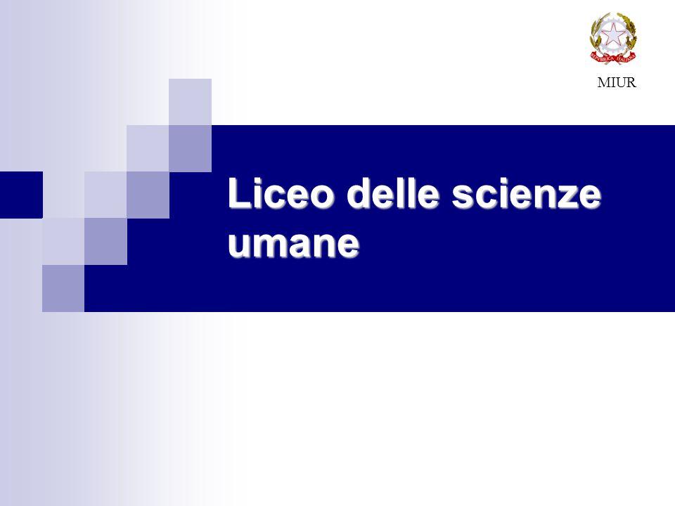 Liceo delle scienze umane MIUR