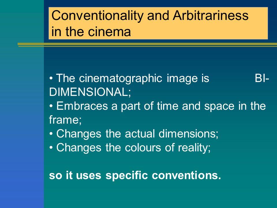 MA Convenzionalità e Arbitrarietà nel cinema