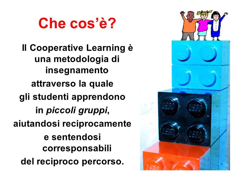 Che cos'è? Il Cooperative Learning è una metodologia di insegnamento attraverso la quale gli studenti apprendono in piccoli gruppi, aiutandosi recipro