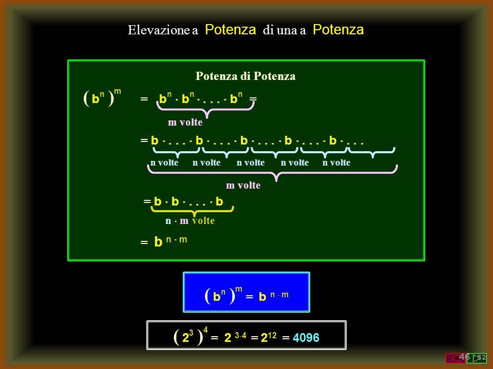 Potenze Risolvere le seguenti operazioni applicando le proprietà viste 34 =34 = 3  3  3  3 = 81 3 -2 = 1 / 3 2 = 1 / 9 26 =26 = 2  2  2  2  2 