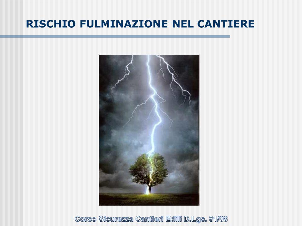 RISCHIO FULMINAZIONE NEL CANTIERE