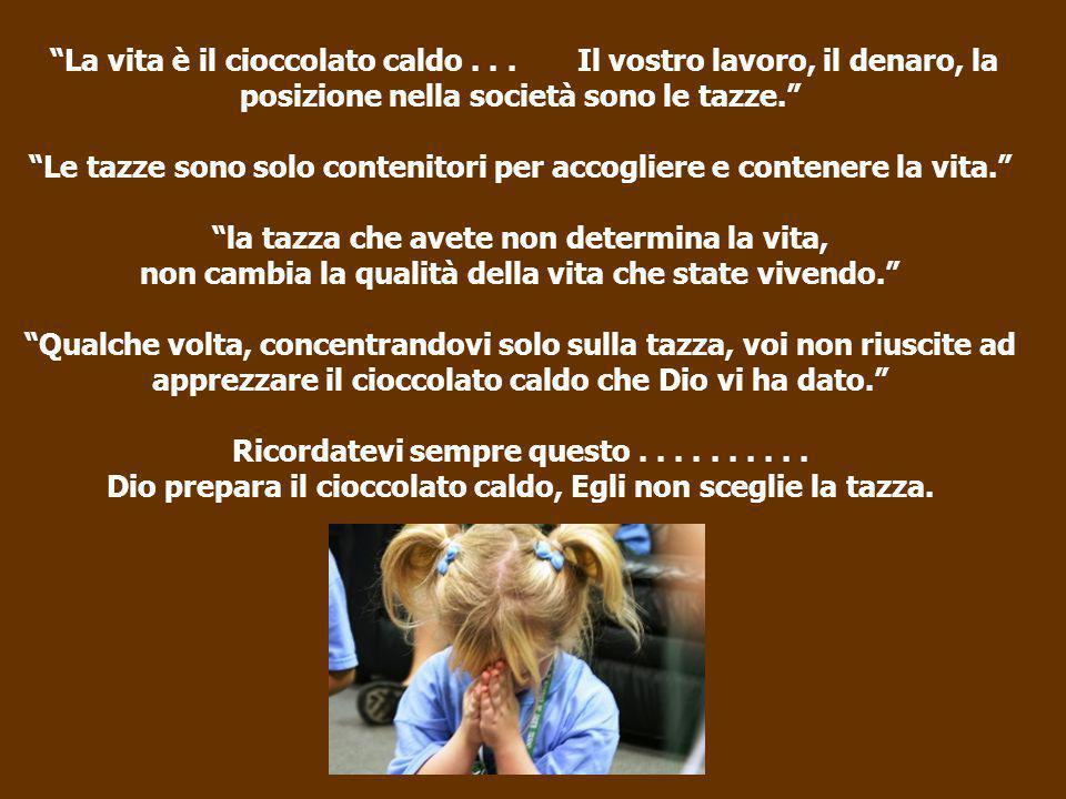 La vita è il cioccolato caldo...