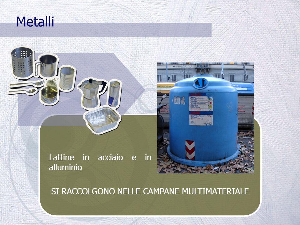 Il tetrapak SI RACCOGLIE NELLE CAMPANE MULTIMATERIALE Materiale poliaccoppiato in cui la carta si accompagna a pellicole di plastica e alluminio