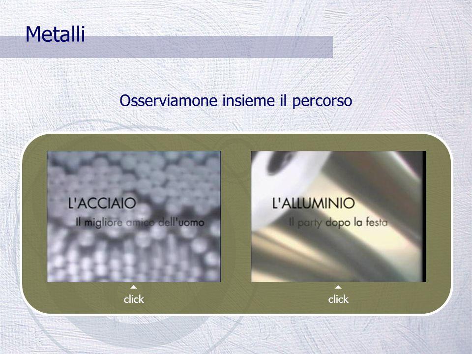 Metalli La raccolta differenziata di acciaio e alluminio comporta un risparmio notevole: Ambientale (i metalli sono completamente riciclabili) Energet