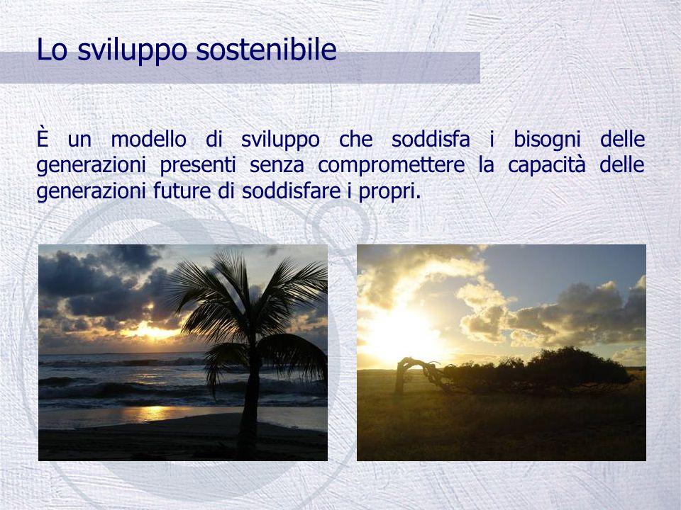 Cos'è lo sviluppo sostenibile.