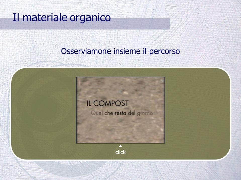 Il materiale organico Il compost è un ammendante naturale; suo utilizzo in agricoltura apporta sostanza organica nel terreno e migliora la struttura del suolo e la biodisponibilità di elementi nutritivi IL MATERIALE ORGANCO È COMPLETAMENTE BIODEGRADABILE Viene utilizzato per produrre il COMPOST Il compost viene prodotto presso gli impianti di compostaggio (in Toscana circa 80.000 tonnellate ogni anno presso 8 impianti pubblici); può anche essere prodotto nel proprio giardino utilizzando una compostiera.