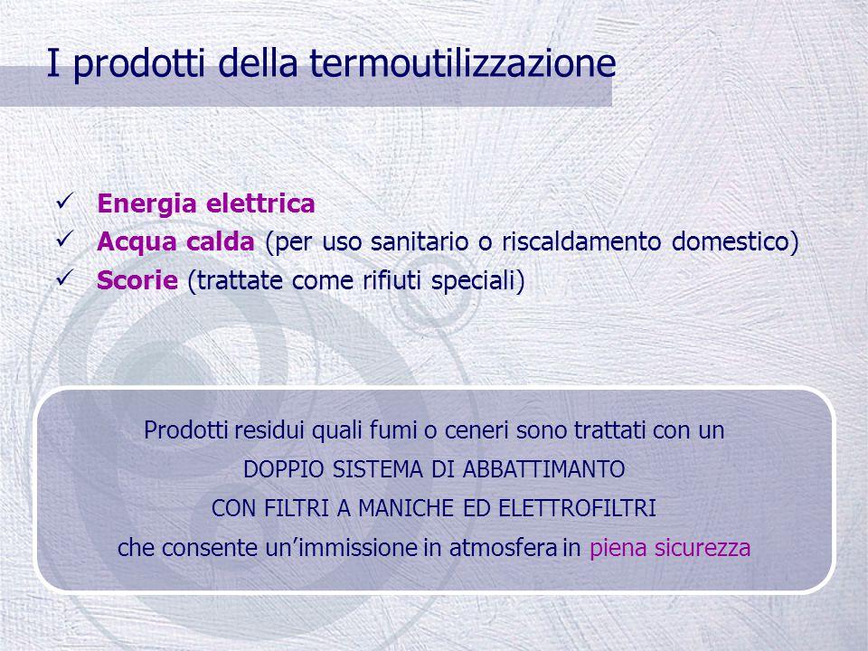 La termoutilizzazione La parte secca del rifiuto proveniente dagli impianti di selezione è destinata al recupero sottoforma di calore e/o energia elet