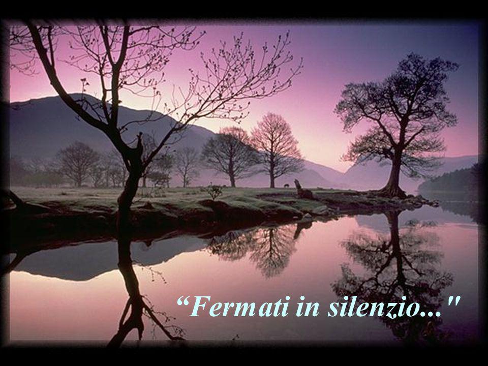 """""""Fermati in silenzio davanti al Signore..."""