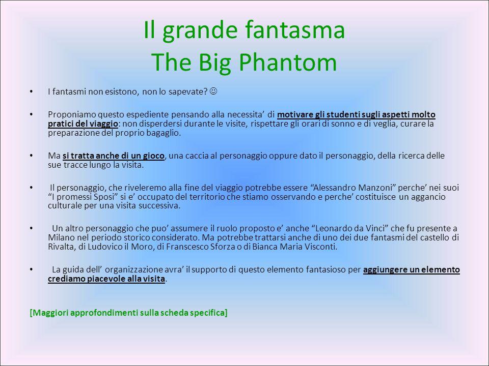 Il grande fantasma The Big Phantom I fantasmi non esistono, non lo sapevate? Proponiamo questo espediente pensando alla necessita' di motivare gli stu