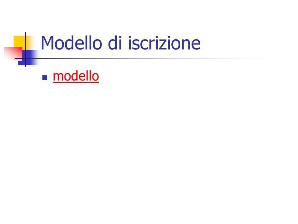 Modello di iscrizione modello