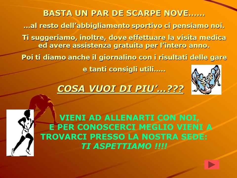 VIENI A CORRERE CON NOI !!.