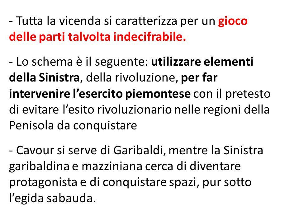 L'ORGANIZZAZIONE  Immaginare una spedizione spontanea, di volontari quasi allo sbaraglio, e che i siciliani attendessero i garibaldini come liberatori non corrisponde al vero.