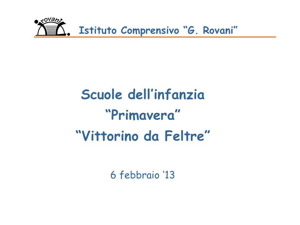 6 febbraio 2013 Presentazione Scuola Infanzia Le finalità degli itinerari educativi 1.