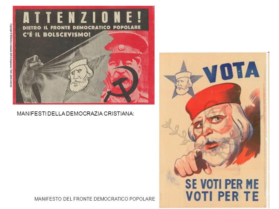 MANIFESTI DELLA DEMOCRAZIA CRISTIANA: MANIFESTO DEL FRONTE DEMOCRATICO POPOLARE