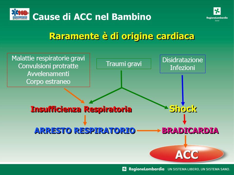 Malattie respiratorie gravi Convulsioni protratte Avvelenamenti Corpo estraneo Disidratazione Infezioni Insufficienza Respiratoria ARRESTO RESPIRATORI
