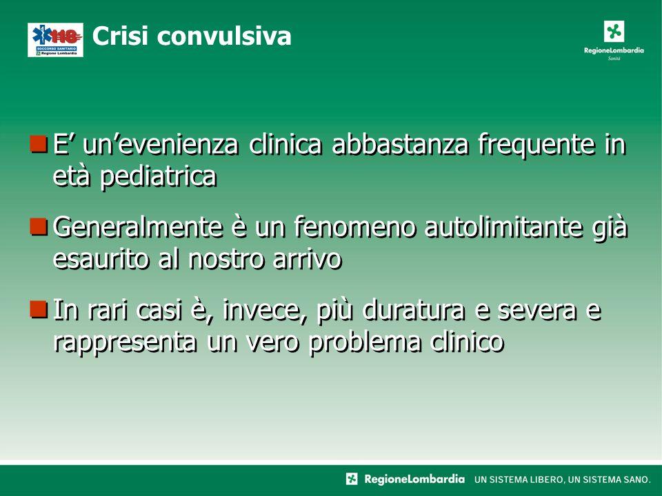 E' un'evenienza clinica abbastanza frequente in età pediatrica Generalmente è un fenomeno autolimitante già esaurito al nostro arrivo In rari casi è,