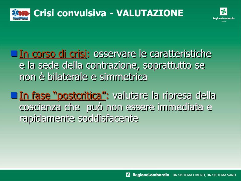 """In corso di crisi: osservare le caratteristiche e la sede della contrazione, soprattutto se non è bilaterale e simmetrica In fase """"postcritica"""": valut"""