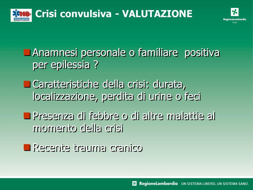 Anamnesi personale o familiare positiva per epilessia .