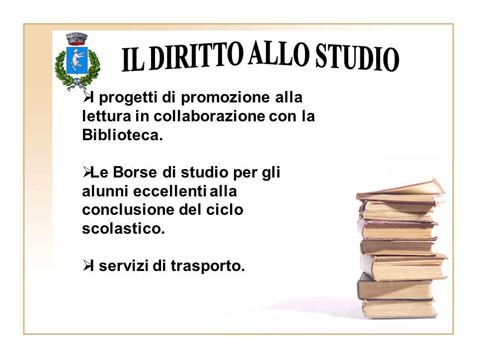  I progetti di promozione alla lettura in collaborazione con la Biblioteca.