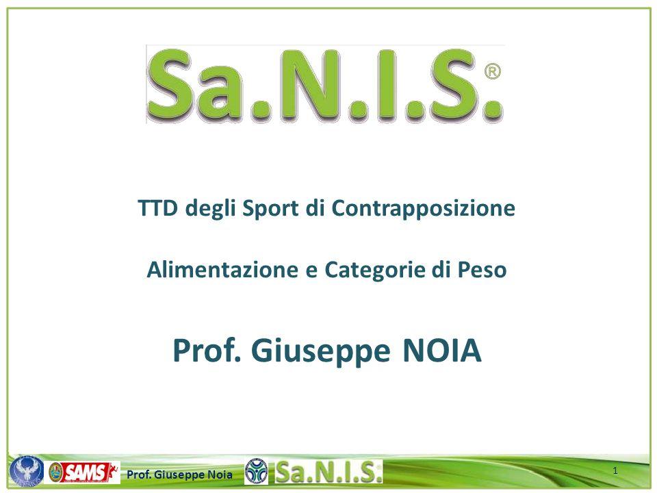 \\\\\\\\\\\\\\\\\\\\\\\\\\\\\\\\\\\\\\\\\\\\\\\\\\\\ Prof. Giuseppe Noia TTD degli Sport di Contrapposizione Alimentazione e Categorie di Peso Prof. G