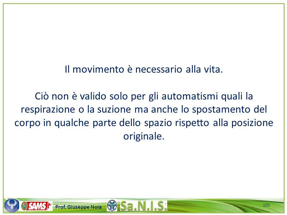 \\\\\\\\\\\\\\\\\\\\\\\\\\\\\\\\\\\\\\\\\\\\\\\\\\\\ Prof. Giuseppe Noia Il movimento è necessario alla vita. Ciò non è valido solo per gli automatism