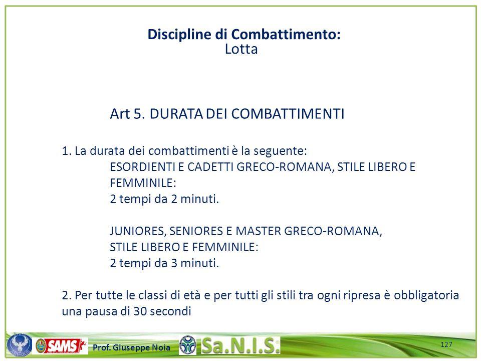 \\\\\\\\\\\\\\\\\\\\\\\\\\\\\\\\\\\\\\\\\\\\\\\\\\\\ Prof. Giuseppe Noia Art 5. DURATA DEI COMBATTIMENTI 1. La durata dei combattimenti è la seguente: