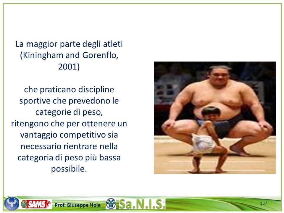 \\\\\\\\\\\\\\\\\\\\\\\\\\\\\\\\\\\\\\\\\\\\\\\\\\\\ Prof. Giuseppe Noia La maggior parte degli atleti (Kiningham and Gorenflo, 2001) che praticano di