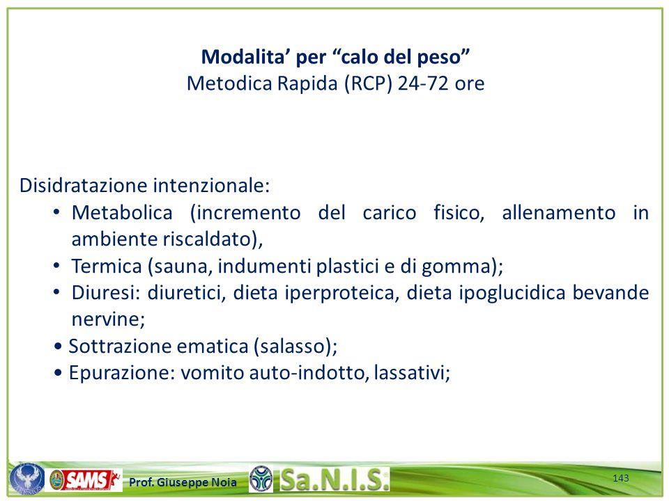 \\\\\\\\\\\\\\\\\\\\\\\\\\\\\\\\\\\\\\\\\\\\\\\\\\\\ Prof. Giuseppe Noia Disidratazione intenzionale: Metabolica (incremento del carico fisico, allena