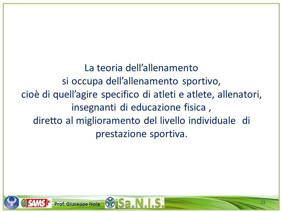 \\\\\\\\\\\\\\\\\\\\\\\\\\\\\\\\\\\\\\\\\\\\\\\\\\\\ Prof. Giuseppe Noia La teoria dell'allenamento si occupa dell'allenamento sportivo, cioè di quell