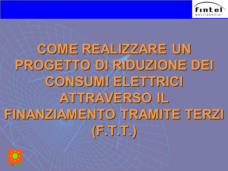 COME REALIZZARE UN PROGETTO DI RIDUZIONE DEI CONSUMI ELETTRICI ATTRAVERSO IL FINANZIAMENTO TRAMITE TERZI (F.T.T.)