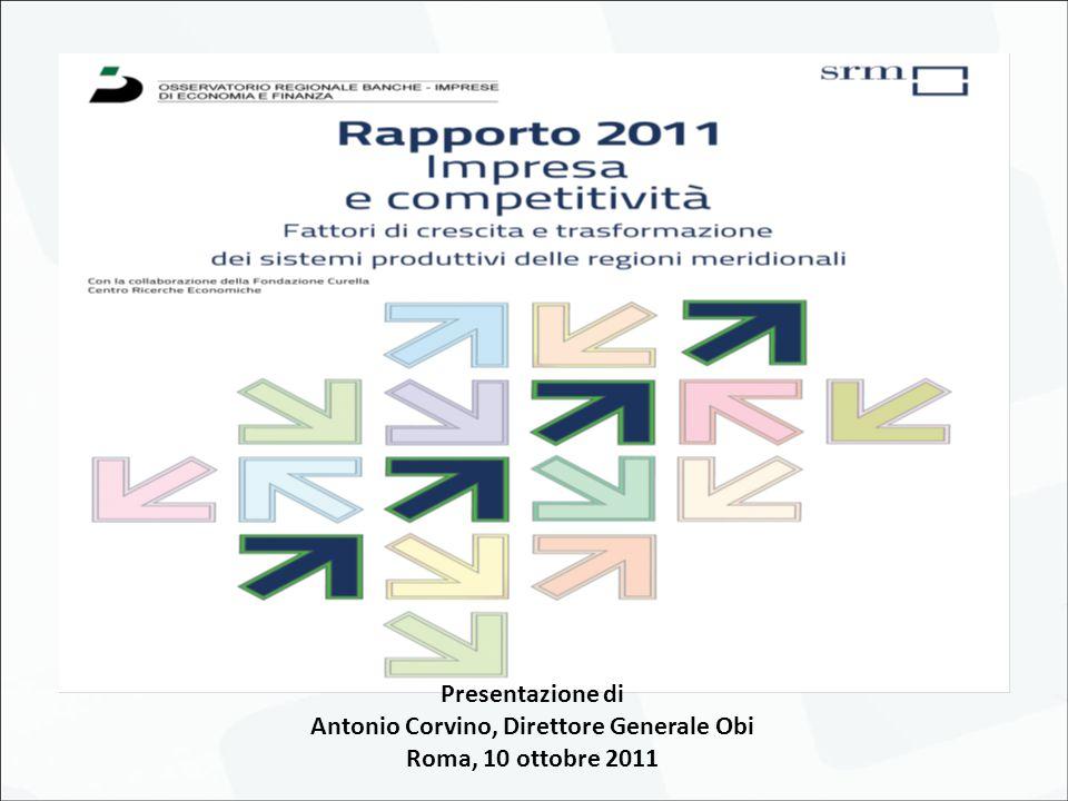 Presentazione di Antonio Corvino, Direttore Generale Obi Roma, 10 ottobre 2011