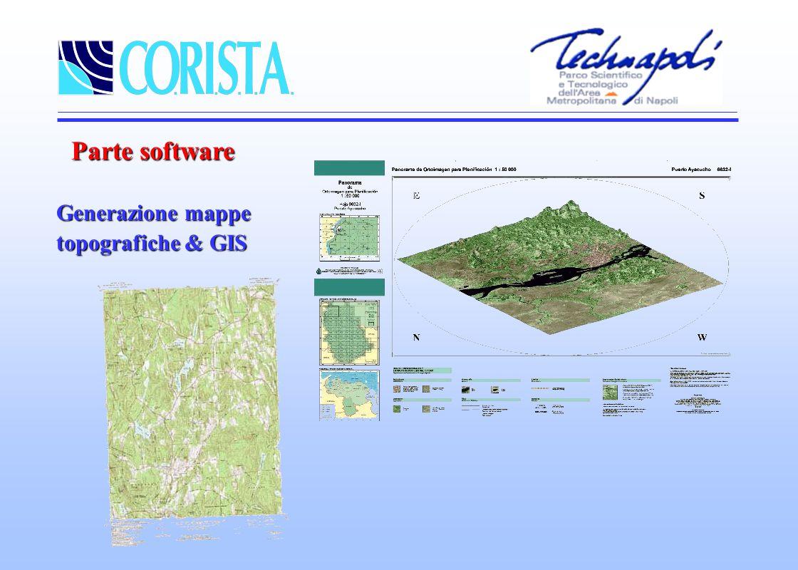Parte software Generazione mappe topografiche & GIS