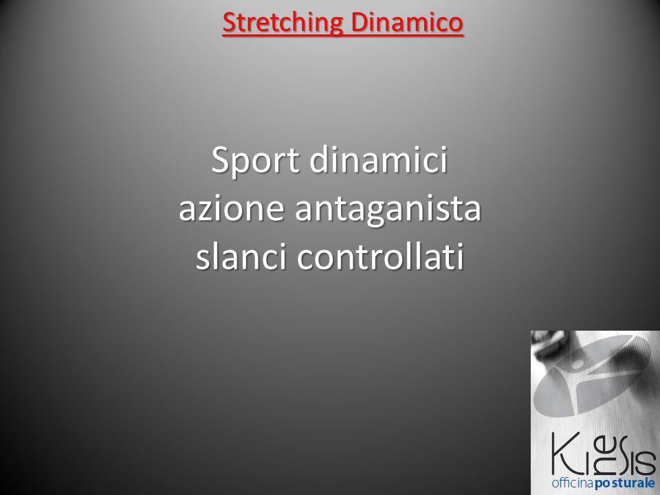 Sport dinamici azione antaganista slanci controllati Stretching Dinamico