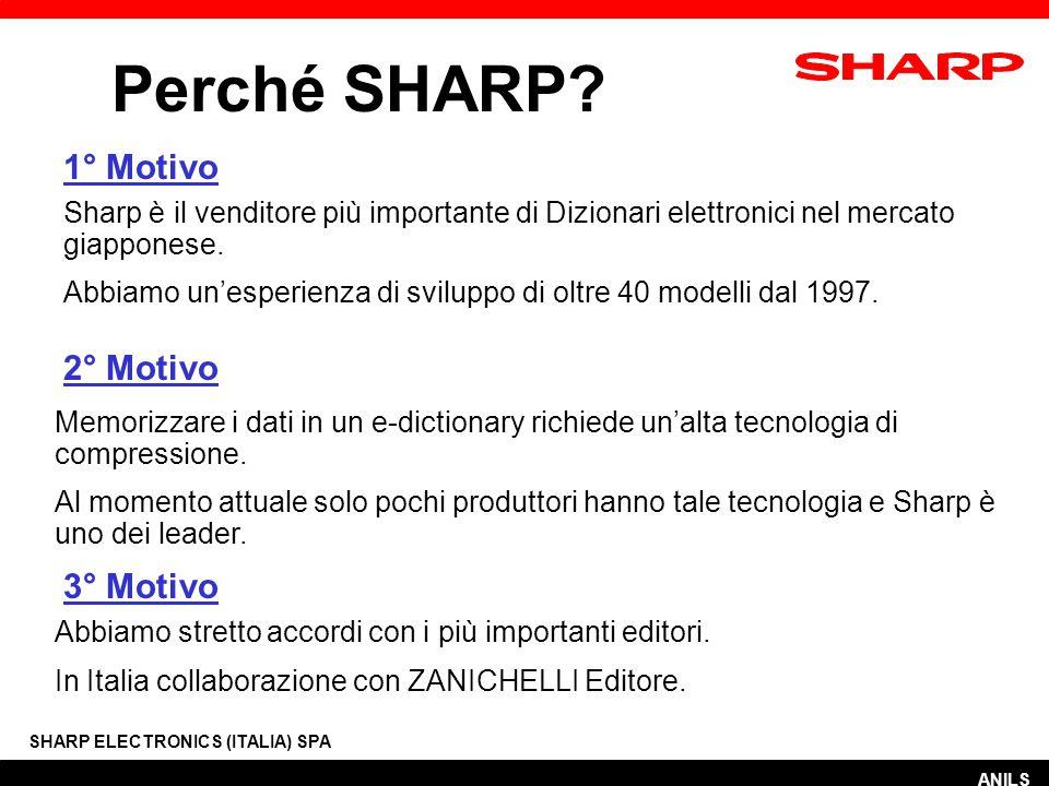 Stesse funzionalità per ITALIANO-INGLESE SHARP ELECTRONICS (ITALIA) SPA ANILS