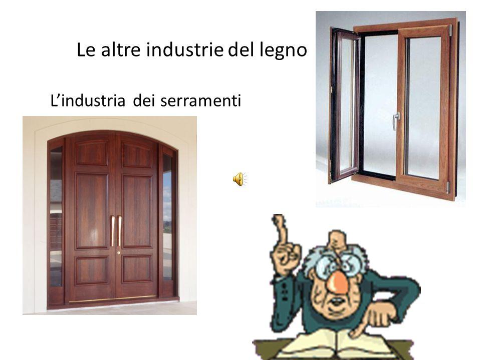 Le altre industrie del legno L'industria dei serramenti