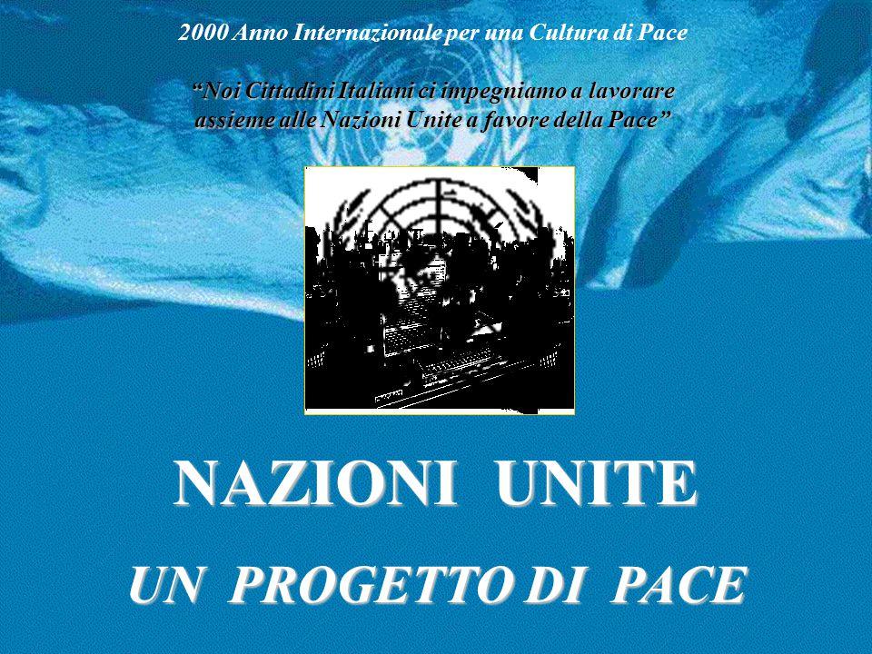 Le Agenzie Specializzate collegate alle Nazioni Unite ILO FAO UNESCO ICAO OMS BANCA MONDIALE FMI UPU ITU WMO IMO WIPO IFAD UNIDO IAEA WTO INSIEME PER UN MONDO MIGLIORE