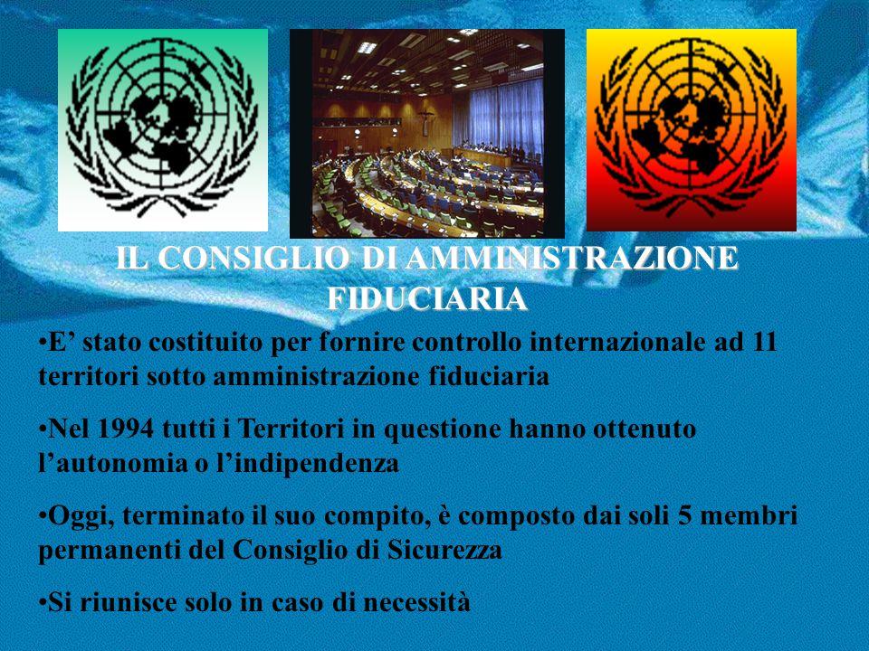 IL CONSIGLIO DI AMMINISTRAZIONE FIDUCIARIA E' stato costituito per fornire controllo internazionale ad 11 territori sotto amministrazione fiduciaria N