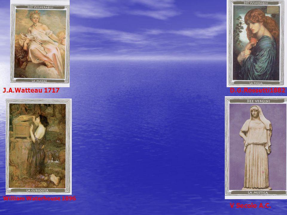 J.A.Watteau 1717D.G.Rossetti1882 William Waterhouse 1896 V Secolo A.C.